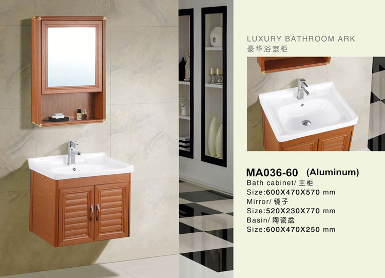 Customize modern bathroom vanity set made in china