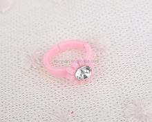 fashion Plastic rhinestone children ring jewelery multi-design kids finger ring set