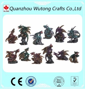 Design Resin Dragon Statues for Customizing Service