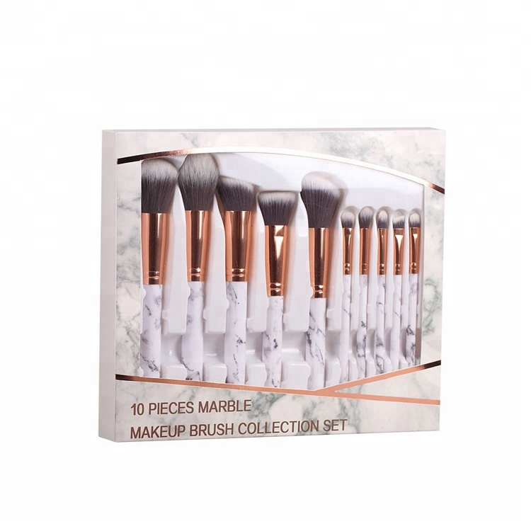 Oem your brand new foundation <strong>high</strong> <strong>quality</strong> eyeshadow 10 pcs professional marble <strong>makeup</strong> <strong>brushes</strong>