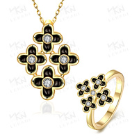 Hotsale dubai gold plated jewelry, cheap necklace and rings set