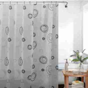 Cheap Bathroom Waterproof Custom Printed Shower Curtain Peva