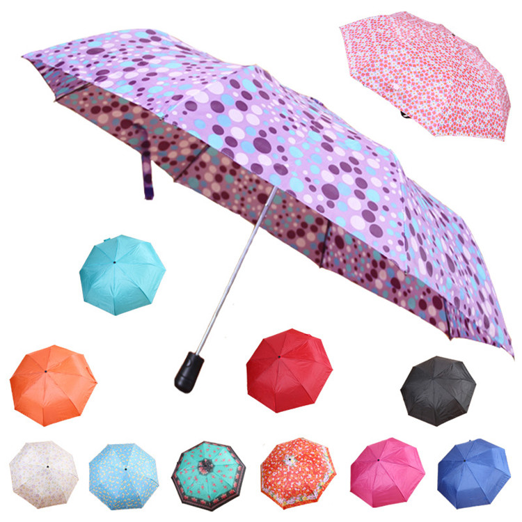 No Minimum High Quality Small cheap low cost 3 fold umbrella with pocket