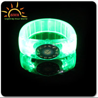 Flashing Led Light Silicon Wristband With Customized Logo For Night Club,Pubs,Concert,Holiday,Night Racing