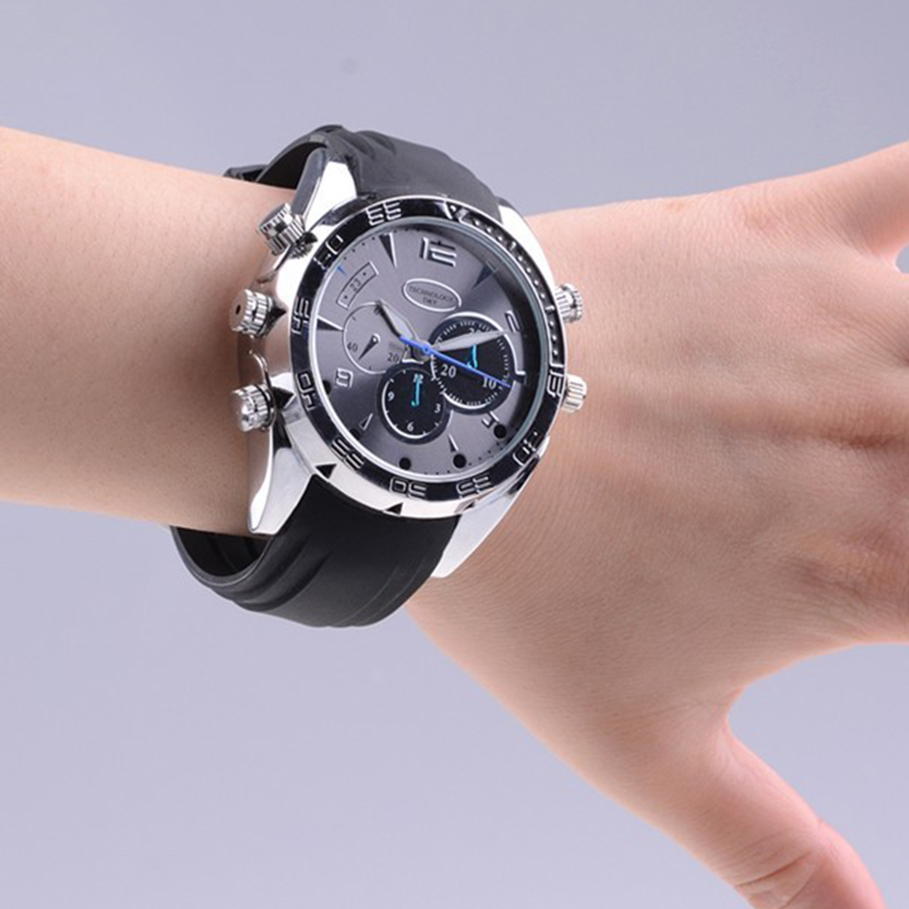 Hot selling HD 1080p Spy Watch Camera with Night Vision and Audio Detection 16g memory built in spy camera watch