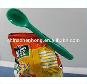 Latest Style Plastic Kitchen Spoon With Clip , 2 in 1 Spoon And Clip ,