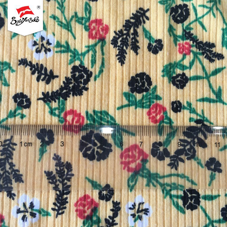 Very stretchable and loose fashion 4*2 knitted weft towel dyeing rib fabric