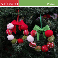 china suppliers wreath shape 6 inch christmas tree hanging ornament wool felt ball for sale