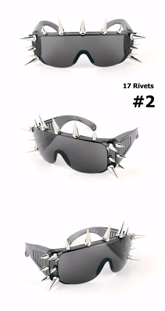 8079 New Rivet Spike Decoration Wild Rock SteamPunk Sunglasses Goggles Cool Fashion Stage Bar Party steampunk sunglasses