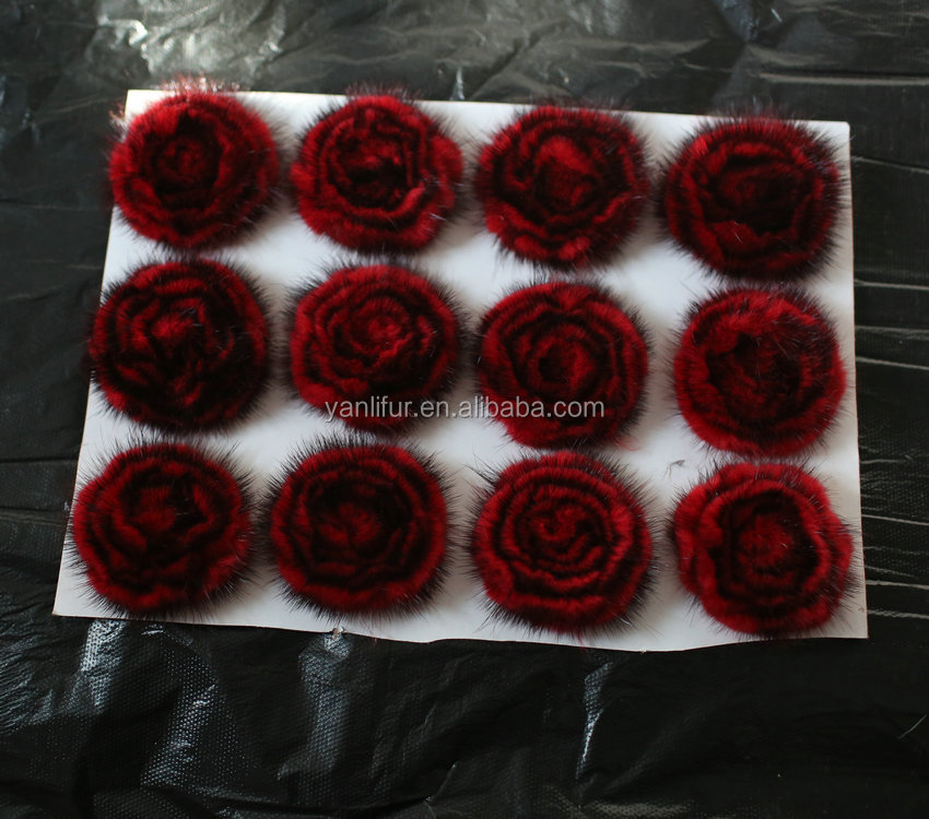 Flower corsage for clothes decoration peony fur flower for clothing accessories