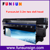 New Brand Funsunjet FS-3202K eco solvent inkjet 3.2 m wide format printer with dx5 printheads