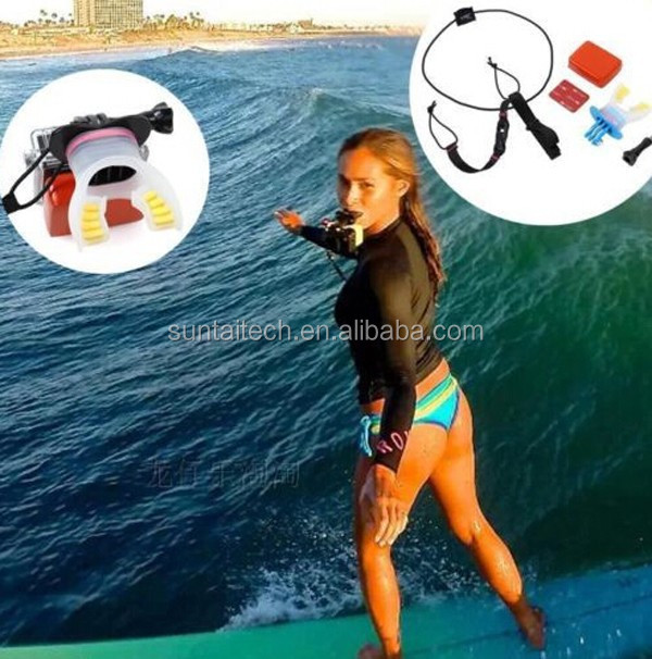 2015 New Go pro Mouth Mount Surfing Shoot Surf Dummy Bite Mouth Mount Grill Mount Kit for GoPro Hero 4/3/3+/2/1