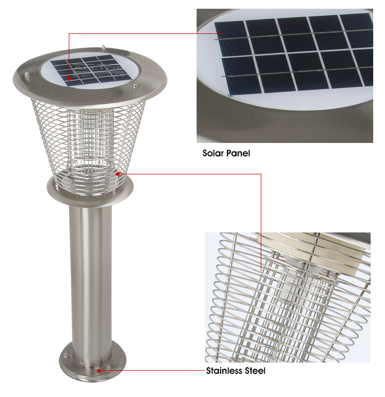 product-6w high quality fancy main gate outdoor solar led pillar light-ALLTOP -img-1