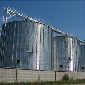 Long working life 1000ton Assembaly Galvanized grain silo uganda Manufacturers In China