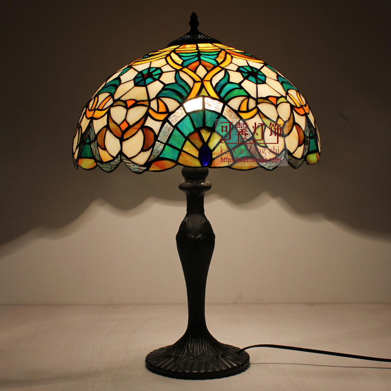 European Style Tiffany Living Room Table Lamp Colorful