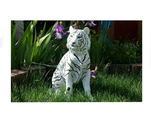 RESIN TIGER STATUE HOME GARDEN DECOR
