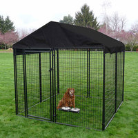 Welded wire panel standard Large outdoor galvanized welded pet enclosure/dog kennels & dog cage & dog runs