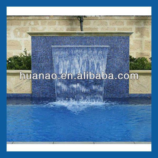 Fontein apparatuur zwembad fontein en waterval muur cascade andere tuinornamenten en - Muur zwembad ...