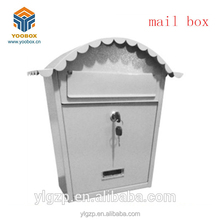 2018 YooBox Best Selling Iron Lockable Mailbox ,Outdoor Decration Letter Box