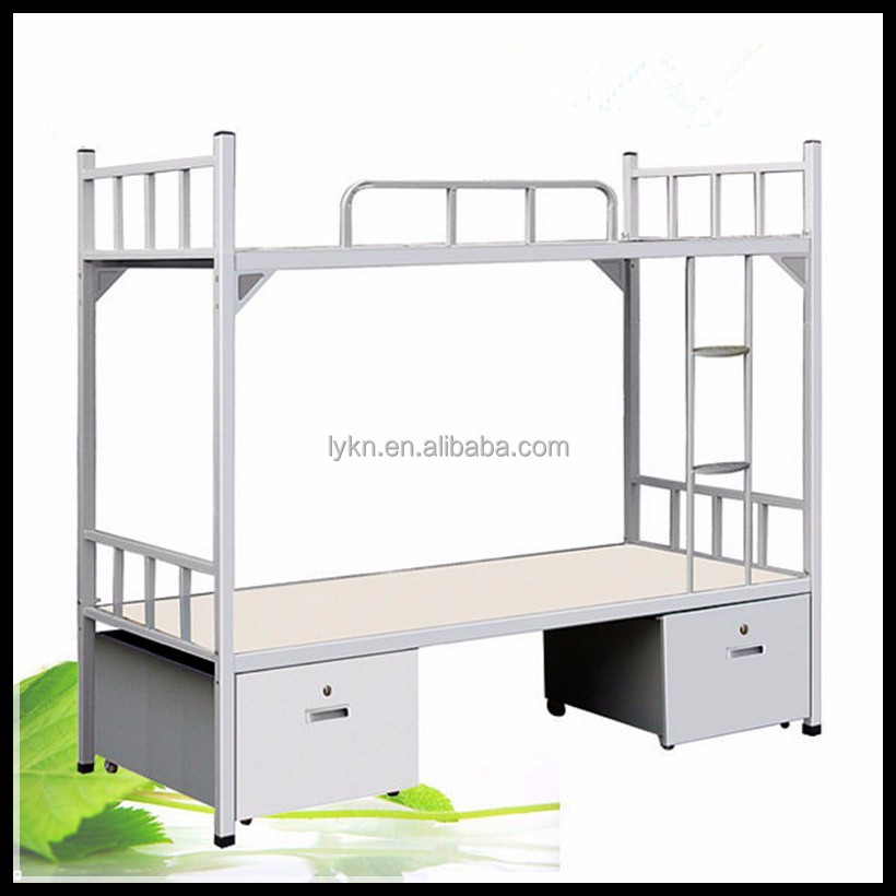 metal pesado para adultos cama litera doble de acero de hierro para el dormitorio de la