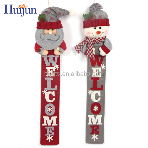 New style cute hanging santa festive christmas letters decoration