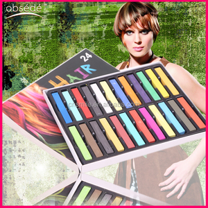 Crazy Hot High Quality 24 colors hair chalk stick Powder form temporary hair chalk in hair dye
