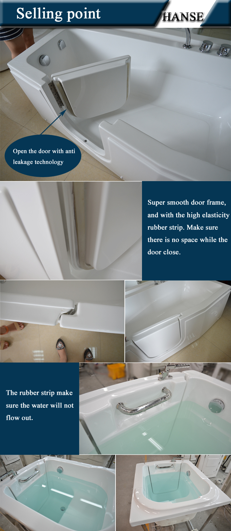 Hs-1115 For Disabled Bathtubs For Handicapped Walk Bathtub Shower ...