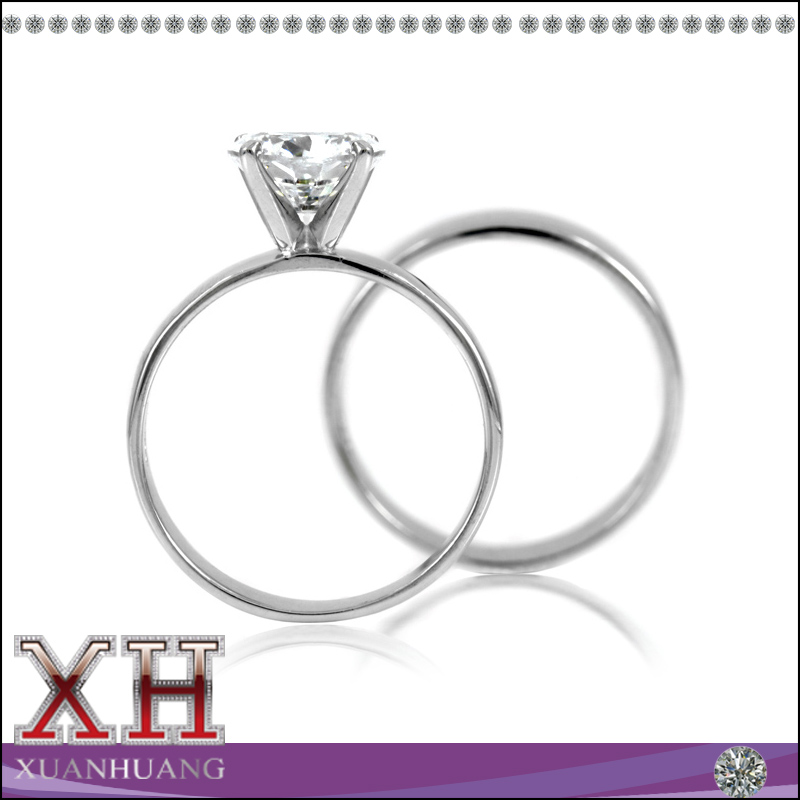 Hot Western Wedding Ring Sets CZ Solitaire Wedding AAA Zirconia Ring Set