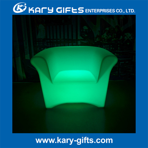 plastic light up chair of sofa table bar