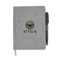 Good Quality Cloth Material Hard Cover Notebook with elastic band closure and pen loop