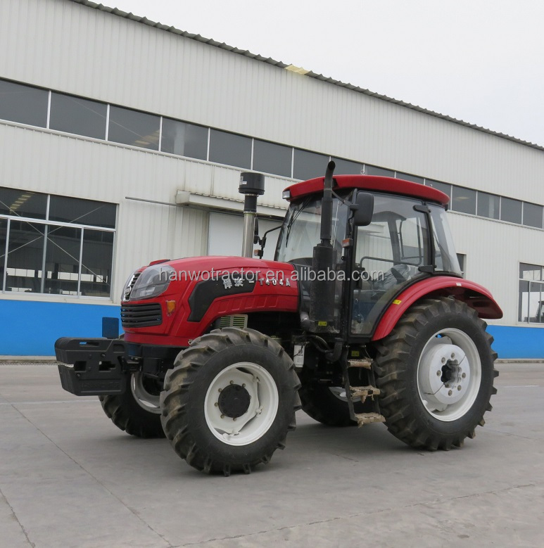 agricultural equipments 140hp big farm tractor with implements for sale