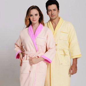 wholesale weave terry looped waffle white or color for adults men women bath robe