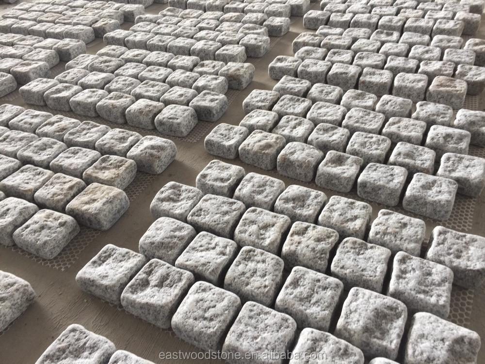 Grau Pflastern Stein Günstige Pflasterstein Granit Pflasterstein