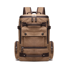 Multipurpose vintage canvas backpack heavy duty casual daypack rucksack
