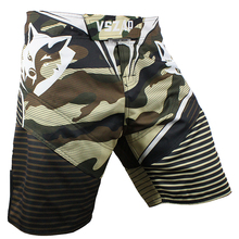 OEM High Quality Custom Sublimation 100% Polyester Sports Fight MMA Shorts Kick Boxing Camo Muay Thai Martial Arts