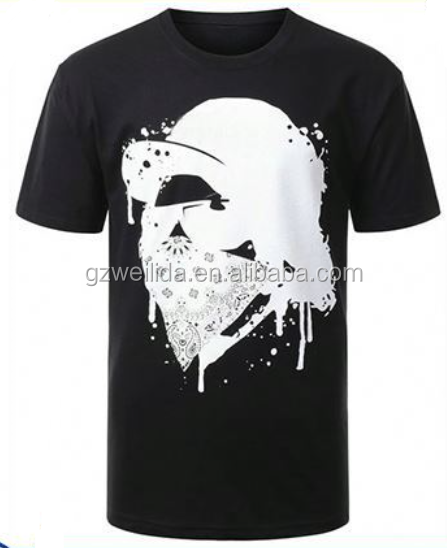 OEM Service fashion hip hop Men's t shirt printed Casual T-shirt Custom