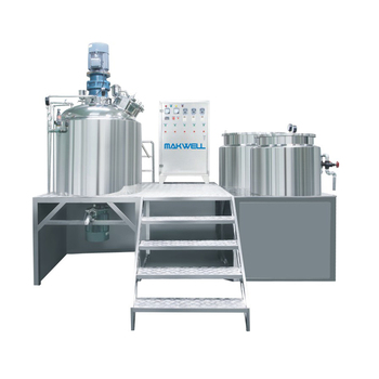 Vacuum Food Lotion Emulsifying Cosmetic Cream Mixer Machine