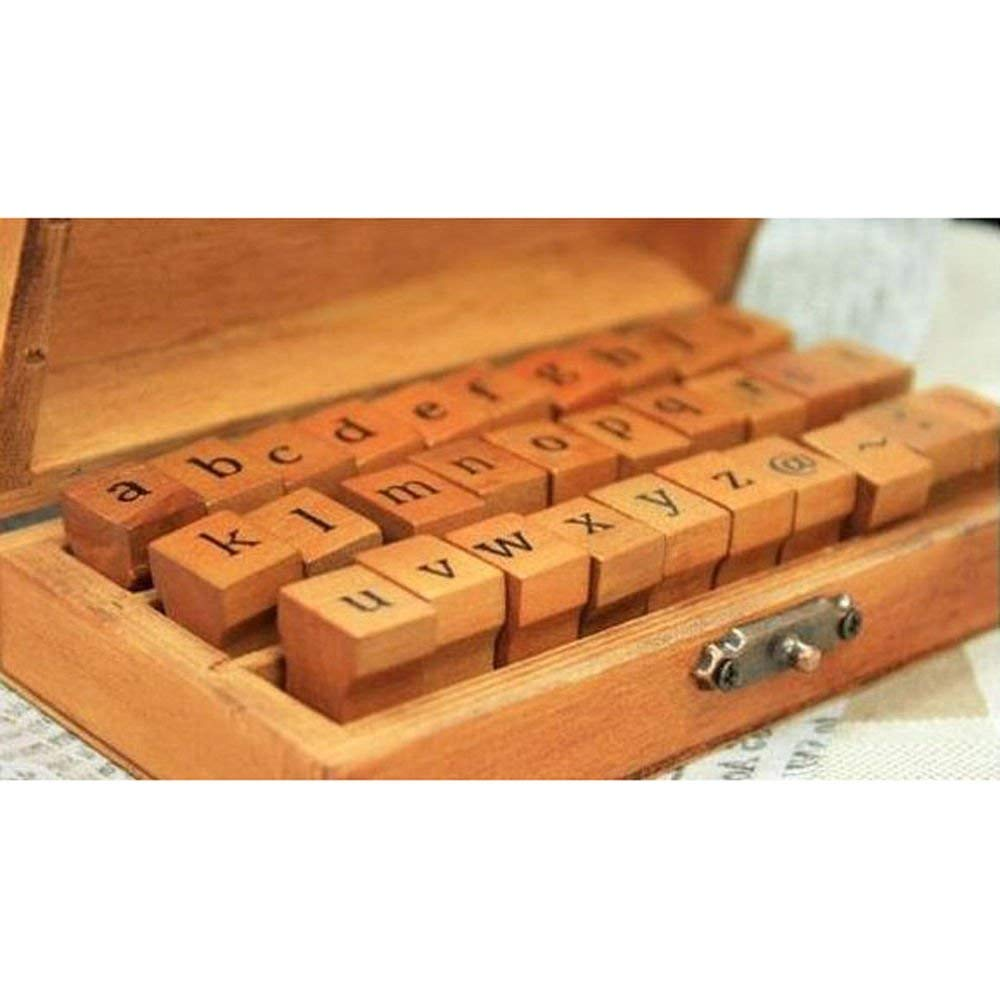Generic QY-US4-16Jun6-11383746 Box Case Rubber Set Vintage Wooden 70pcs R 70pcs Rubber Stamps Set Vin Number Craft r Craft Alphabet Letters ters Number Craft