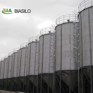 100T Wheat GalvanIzed Hopper Bottom Storage Silo And 5000T Hot Galvanized Steel Grain Storage Bins