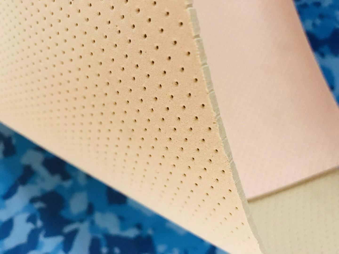 Perforated eva sole sheet with holes