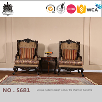 Egyptian arabic style sectional sofa wood carving living room furniture