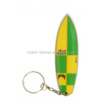 Gifts Manufacturer Soft Rubber PVC Surfboard Key chain Wholesale
