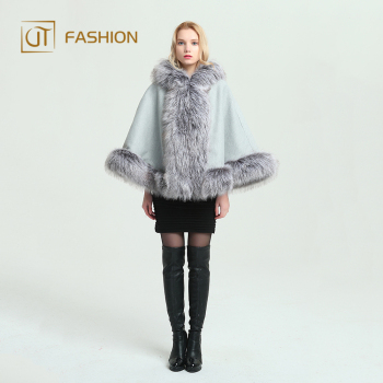 Trade Assurance Jtfur multifunctional ladies artificial fox fur cape