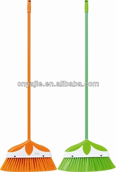 Long Handle Flower Plastic Broom Buy Long Bristle Plastic Broom Low Price Plastic Broom Flower Broom Grass Product On Alibaba Com
