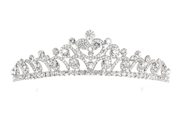 Bridal Rhinestone Crystal Prom Wedding Tiara Crown T1052