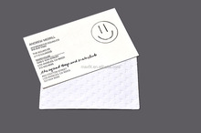 Custom business card with personal information