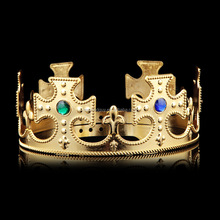 Plastic custom king crown FGFE-0105