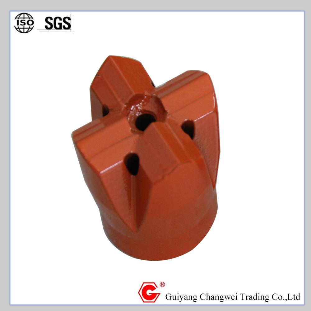 R32 / R38 / T38 cross and X-type rock bits for granite using for extension rod