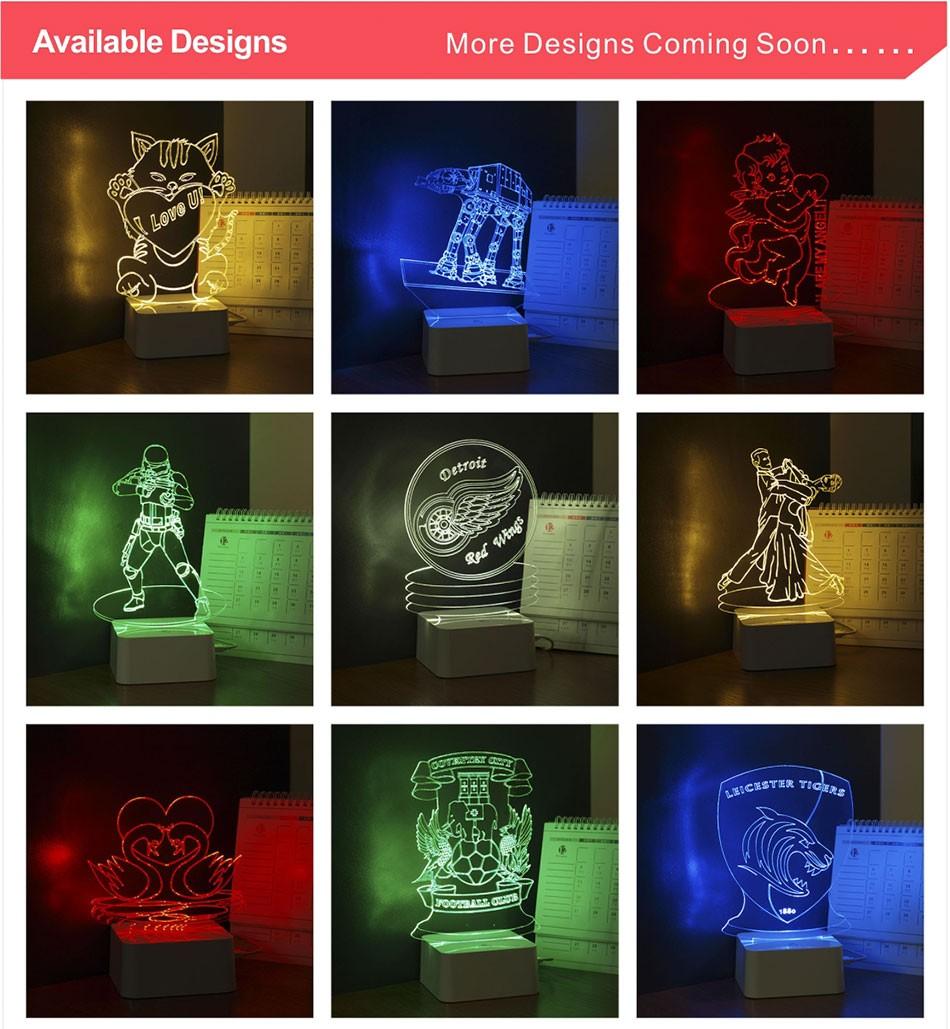 Luz de Noche Led for Star War Fans Imperial Stormtrooper 3D Lamp as Home Decor Bedroom USB Nightlight  (6)