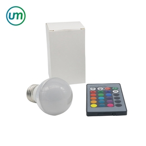3W 5W 7W AC90-240V RGB E27 LED Bulb Lamps E14 Table Lamp Bulb Lighting With Remote Controller